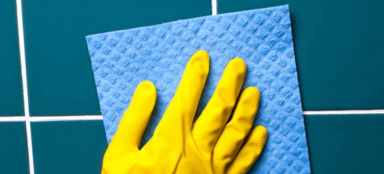 Effectively clean the grout at home