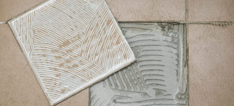 How to remove dry tile adhesive