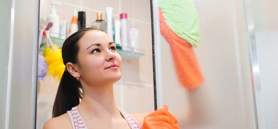 The professional ins and outs of cleaning a shower glass and removing soap scum.